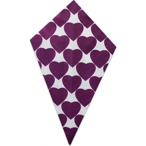 Purple Hearts - Paper Cone