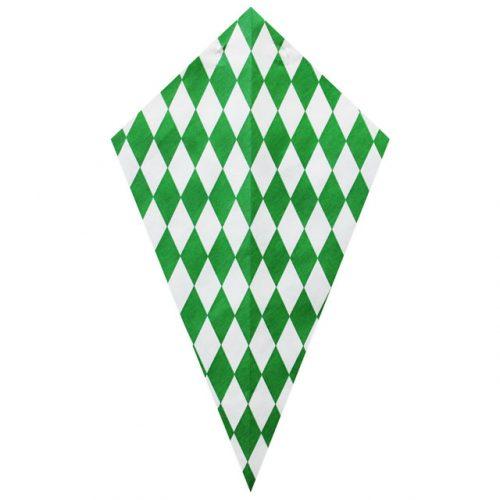 Green Diamond Pattern - Paper Cone