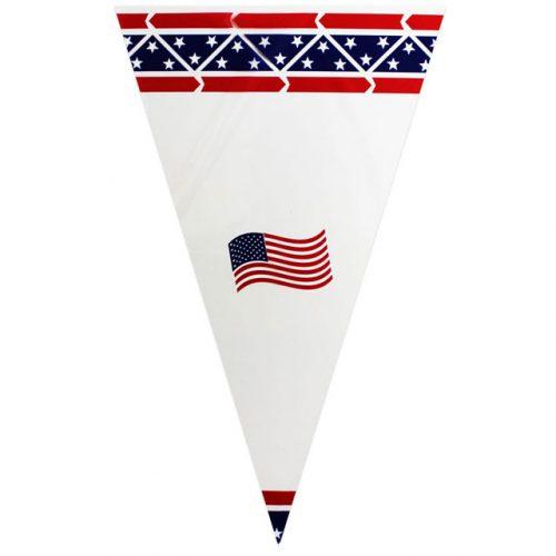 Patriotic Design & USA Flag - Poly Cone