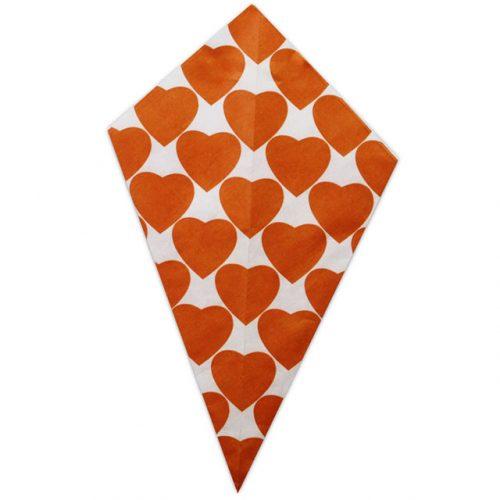 Orange Hearts - Paper Cone