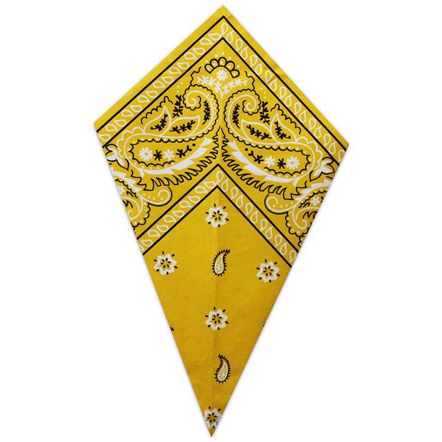 Gold Paisley Bandana - Paper Cone