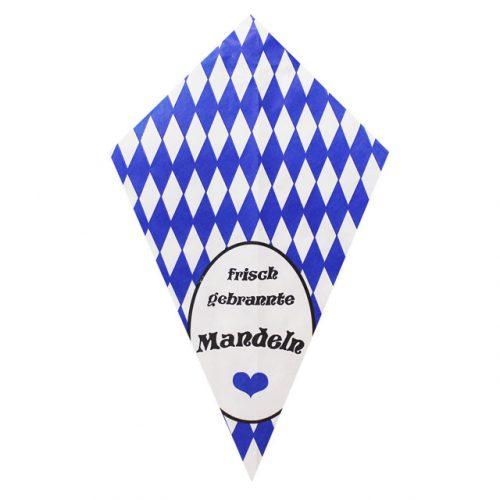 """Diamond Pattern With """"Frisch Gebrannte Mandeln"""" - Paper Cone"""