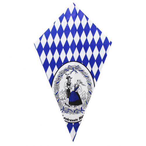 Bavarian Couple & Blue Diamonds - Paper Cone