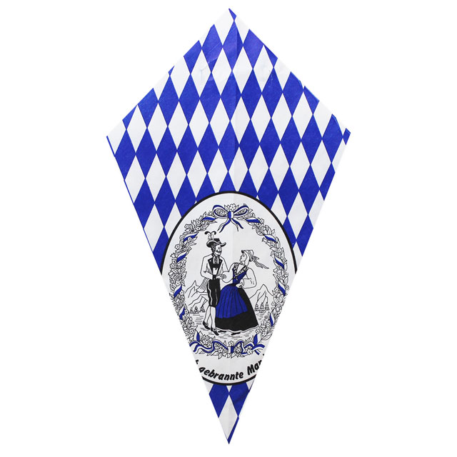 Bavarian Couple & Blue Diamonds - Paper Cone