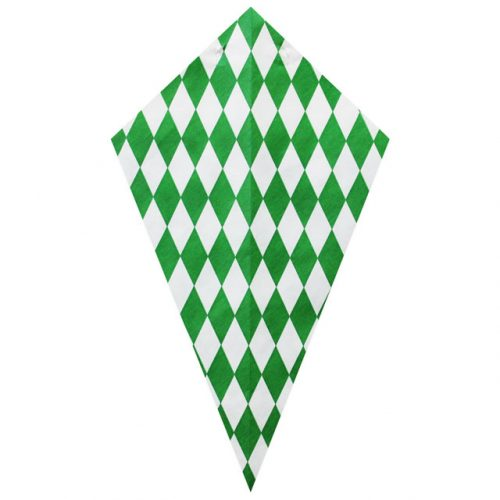 Green Diamond Pattern - Paper Cone