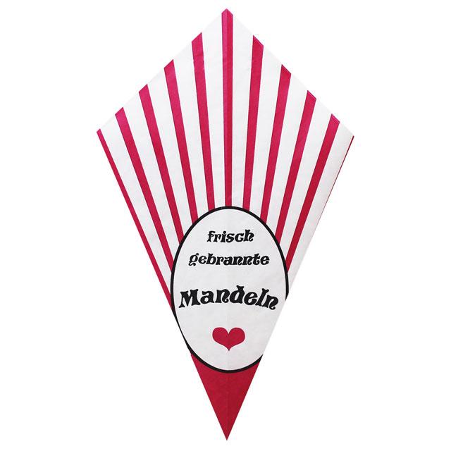 """Pink Stripes With """"Frisch Gebrannte Mandeln"""" - Paper Cone"""