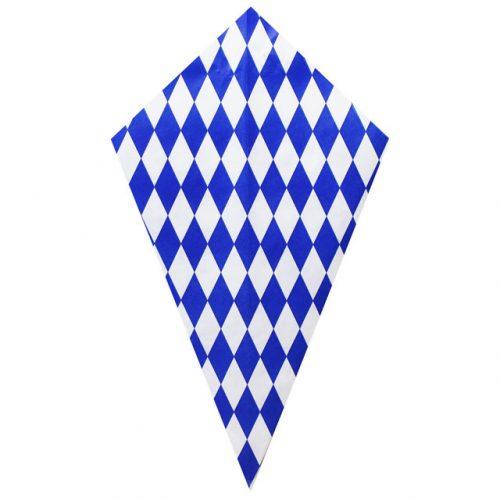 Blue Diamond Pattern - Paper Cone