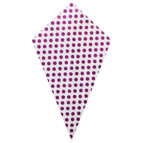 Purple Polka Dots - Paper Cone