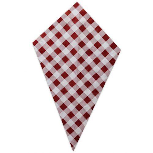Red Plaid - Paper Cone