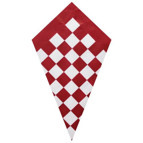 Red Checkers - Paper Cone