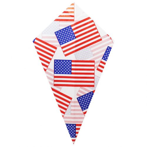 American Flag Small Pattern - Paper Cone