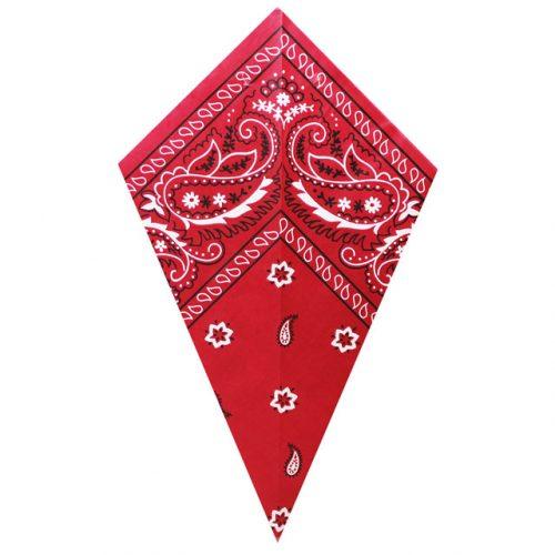 Red Paisley Bandana - Paper Cone