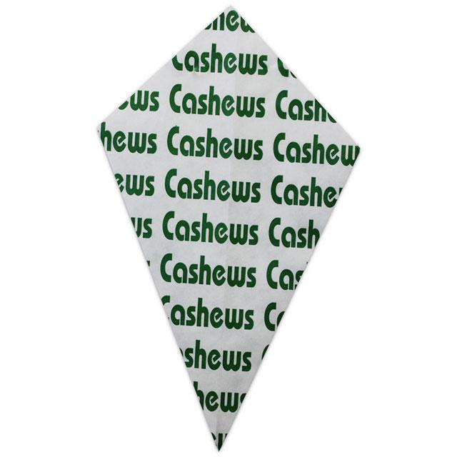 """Green """"Cashews"""" - Paper Cone"""