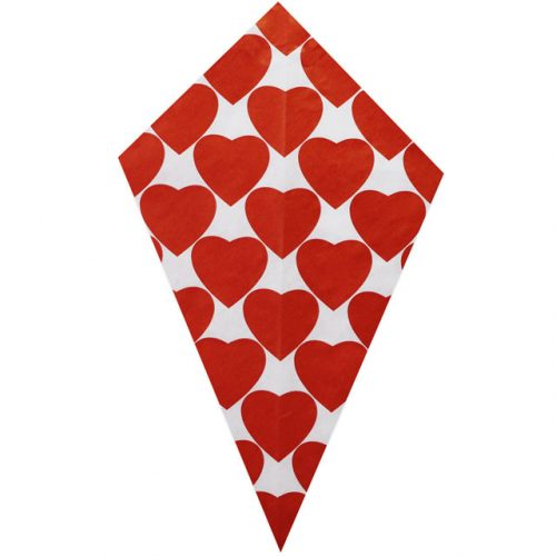 Red Hearts - Paper Cone
