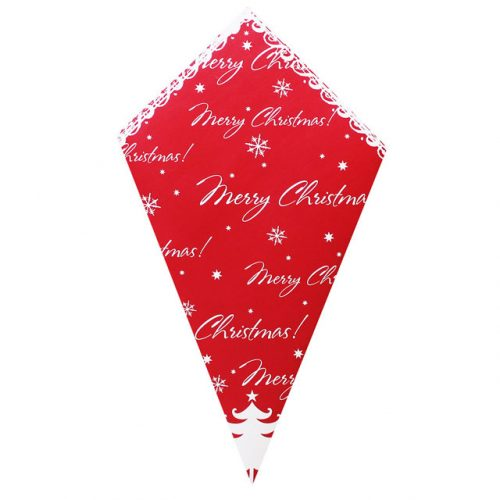Merry Christmas On Red - Paper Cone
