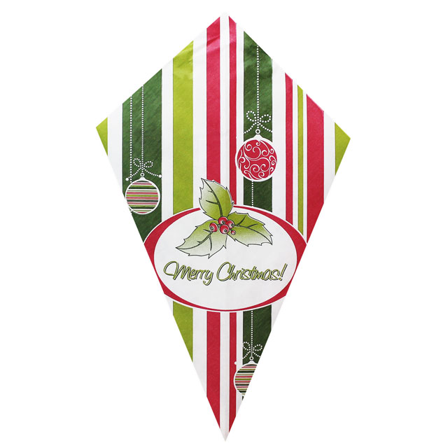 "Poinsettia ""Merry Christmas"" - Paper Cone"