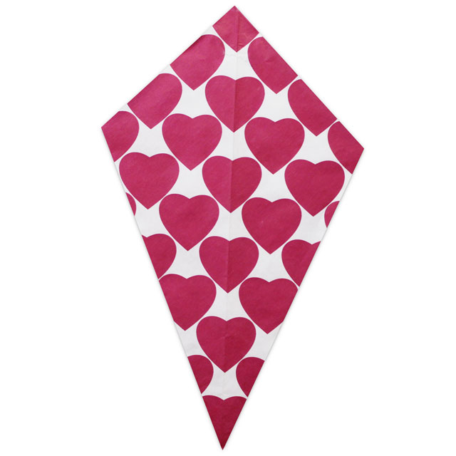 Pink Hearts - Paper Cone