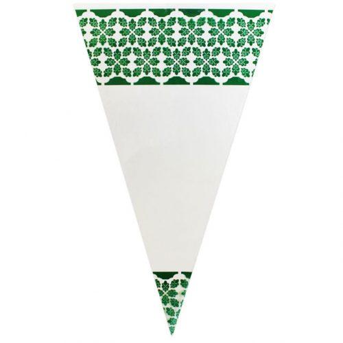 Green Pattern - Plastic Cone
