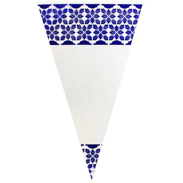 Blue Pattern - Plastic Cone