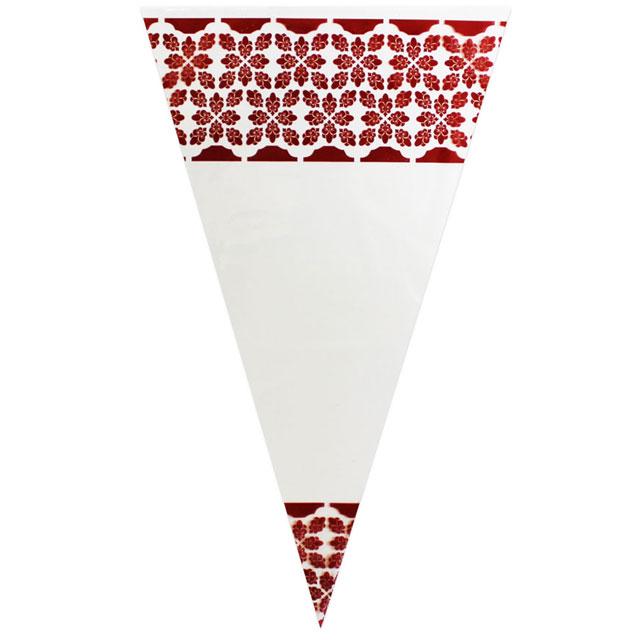 Maroon Pattern - Plastic Cone