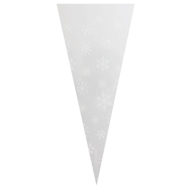 Whtie Snowflakes Poly Cone