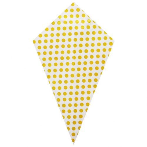 Yellow Polka Dots – Paper Cone