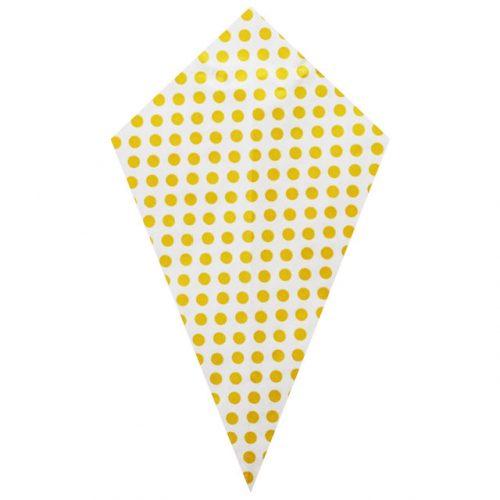 Yellow Polka Dots - Grease Proofed Cone