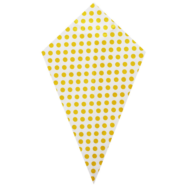 Yellow Polka Dots - Grease Proofed Cone